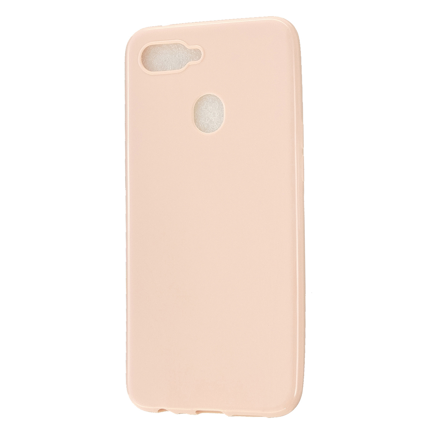 For OPPO A7/F9/F9 Pro Cellphone Cover Non-Slip Ultra Thin Silm Fit Easy Install Soft TPU Smartphone Shell Sakura pink