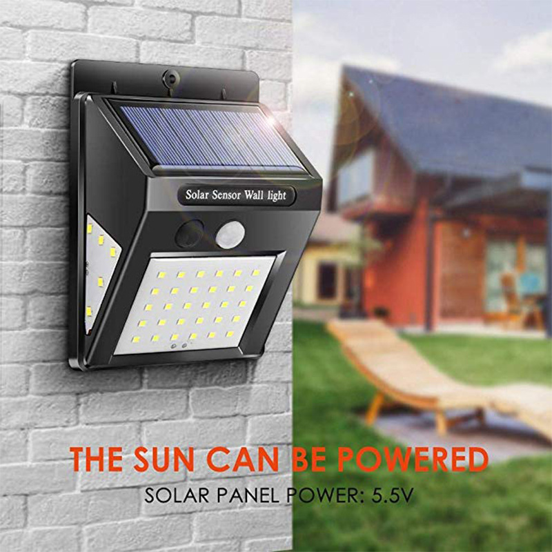 30LEDs Solar Lamp Motion Sensor Wall Light IP65 Waterproof Emergency for Garden  Outdoor Lighting 1PC