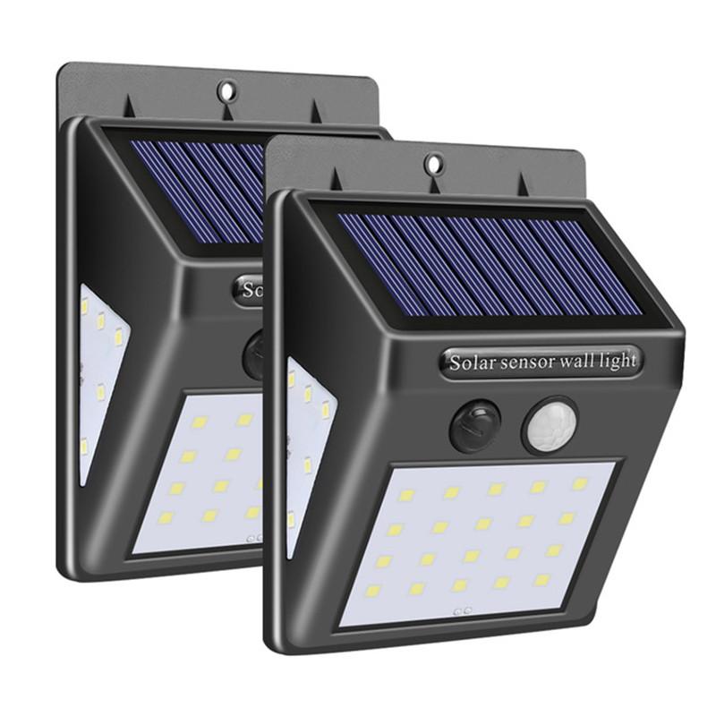30LEDs Solar Lamp Motion Sensor Wall Light IP65 Waterproof Emergency for Garden  Outdoor Lighting 2PCS