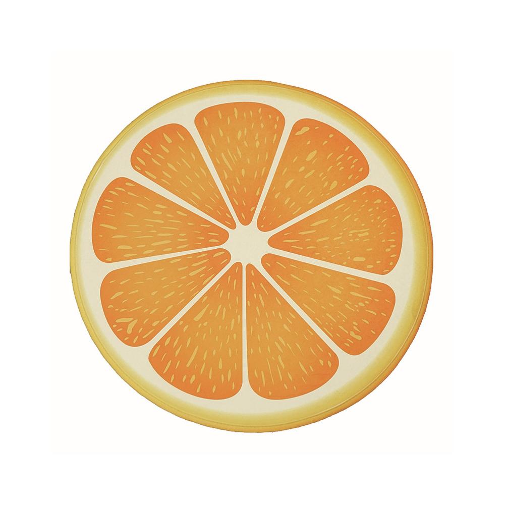 FidgetFidget Blanket Mat Pad Bathroom Kitchen Floor Rug Lemon  orange_53 * 53cm