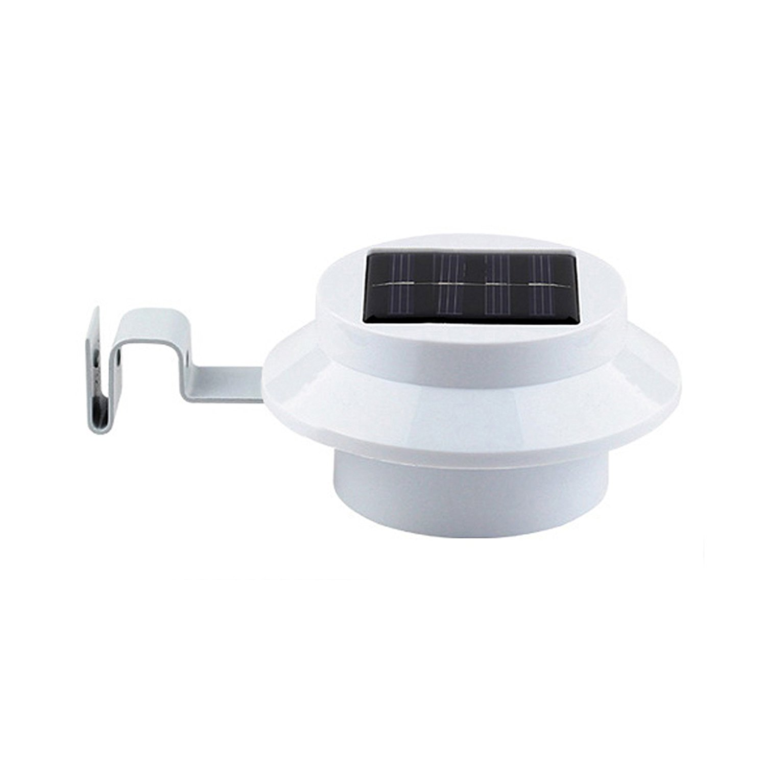 White Sun Power Smart LED Solar Gutter Night Utility Security Light for indoor outdoor permanent or portable for any house, fence, garden, garage, shed, walkways, stairs - anywhere safety lite.