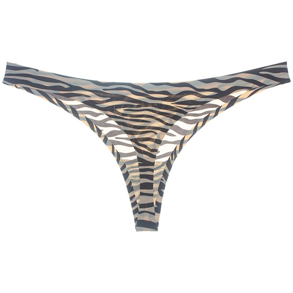 Women Sexy Underpants Underwear Hollow Cotton Underpants Waist Girls Low Bikini Women's Underwear Comfortable Underpants zebra_XL
