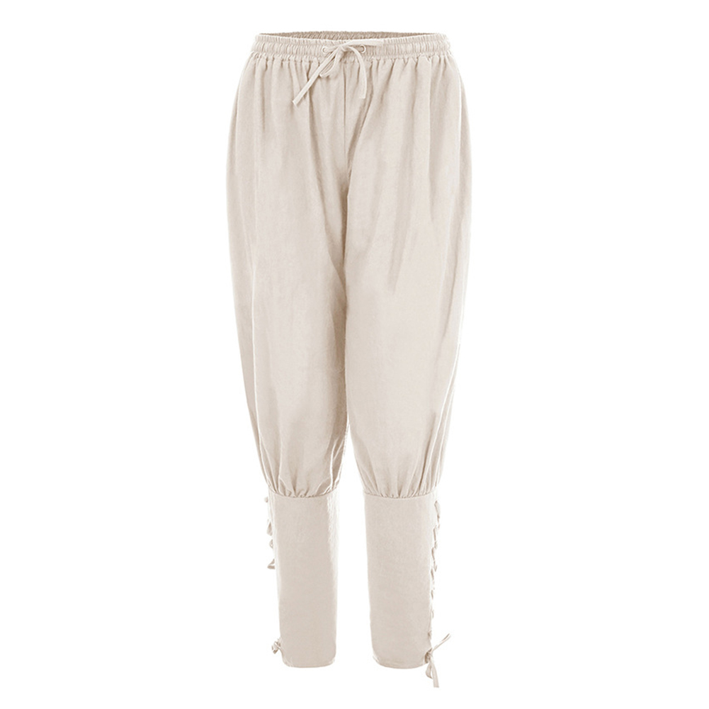 Men Summer Casual Pants Trousers Quick-drying Sports Pants white_L
