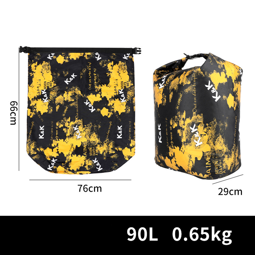 Live  Fish  Bag Foldable Portable Thickened Coated Waterproof Fishing Bag Thick colorful large (capacity 90L)_Live fish bag