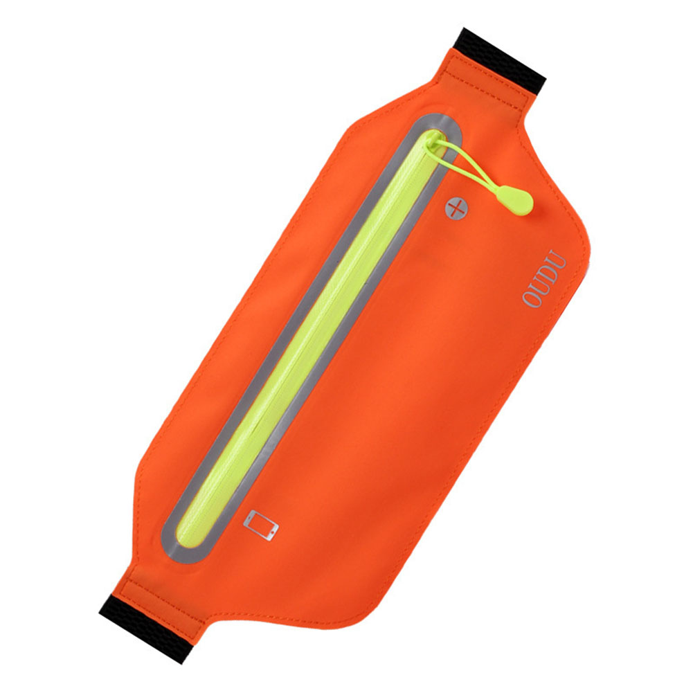 Unisex Running Sports Cell Phone Pocket Multifunction Waterproof Waistbag Lightweight Bag Bright orange_6.5 inch