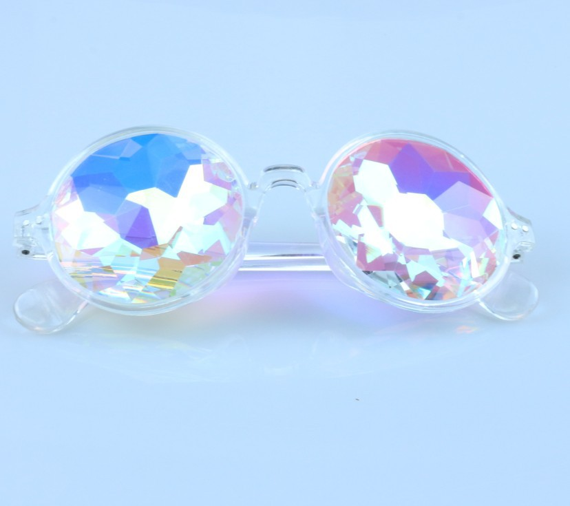 Cool Kaleidoscope Concert Glass Faceted Mosaic Glasses Show Party Glasses