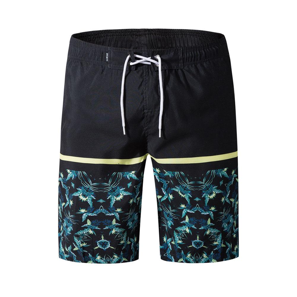 Men Fashion Casual Beach Surf Shorts Quick-drying Shorts black_XXL