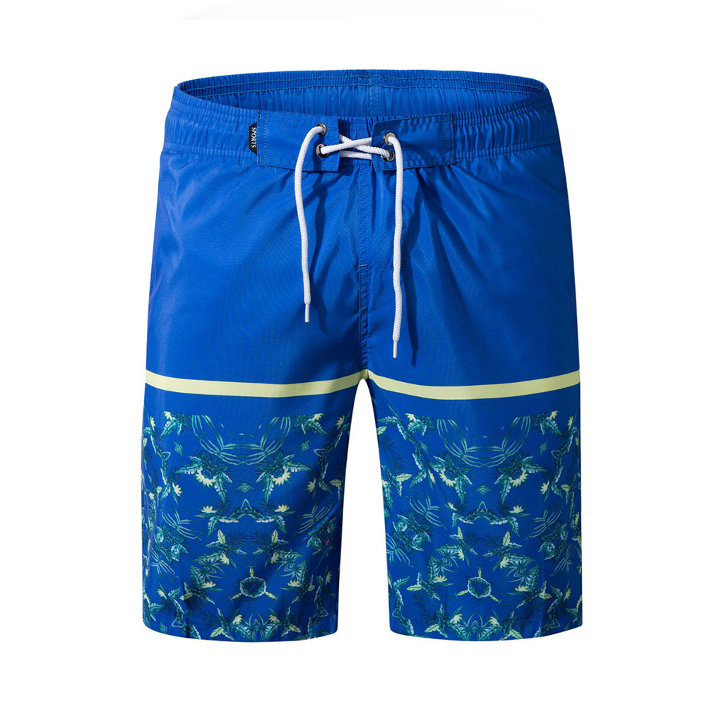 Men Fashion Casual Beach Surf Shorts Quick-drying Shorts Color blue_L