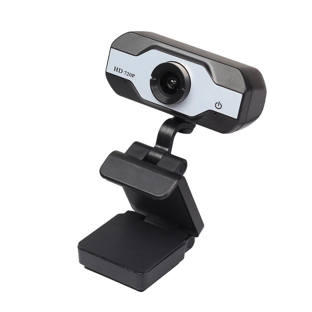 HD Webcam Built-in Dual Mics Smart 720P Web Camera USB Camera for Desktop Laptops PC Silver