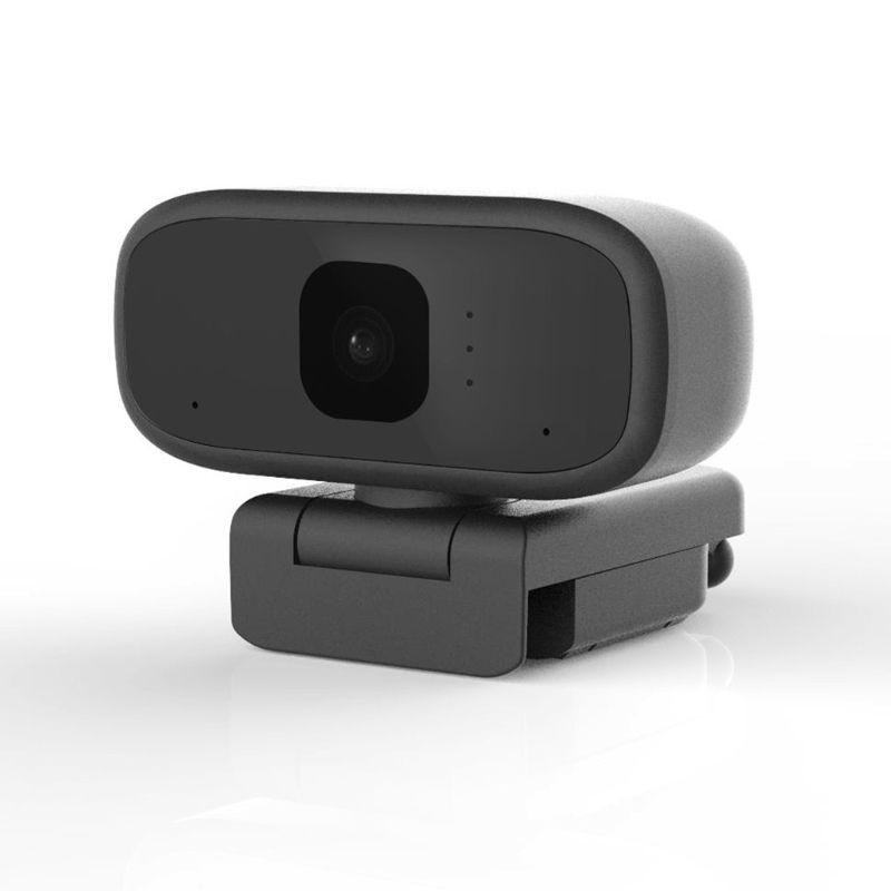 720P Webcam Built-in HD Microphone Auto Focus USB Web Camera Computer Accessories black