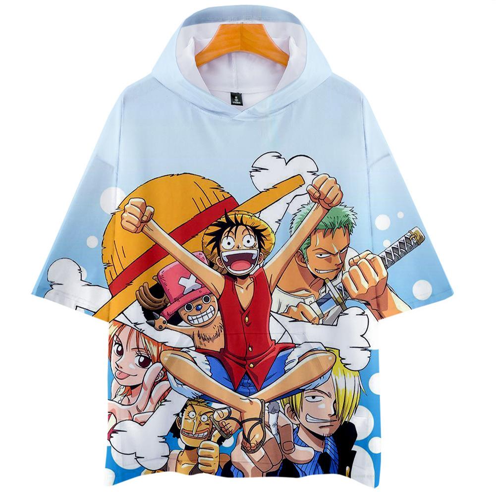 Men Women 3D Digital Printing Cartoon One Pieces Short Sleeve Hooded T Shirt Q-5687-YH09 A_XXL