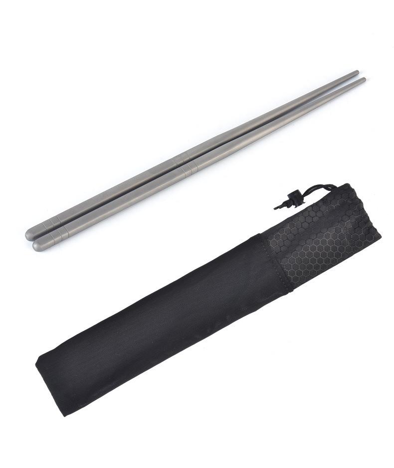 Titanium Chopsticks for Outdoor Gear Hiking Camping Cookset Accessories Pure titanium
