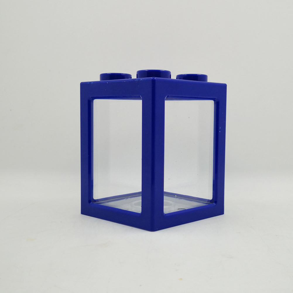Stacking Ecological Bucket Fish Tank Algae Ball Spider Box Small Mini Reptile Row Cylinder blue