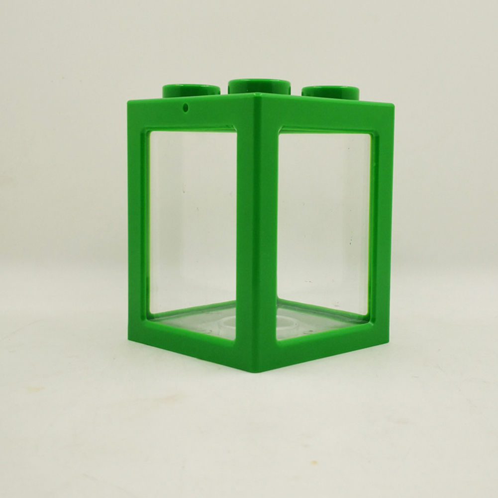 Stacking Ecological Bucket Fish Tank Algae Ball Spider Box Small Mini Reptile Row Cylinder green