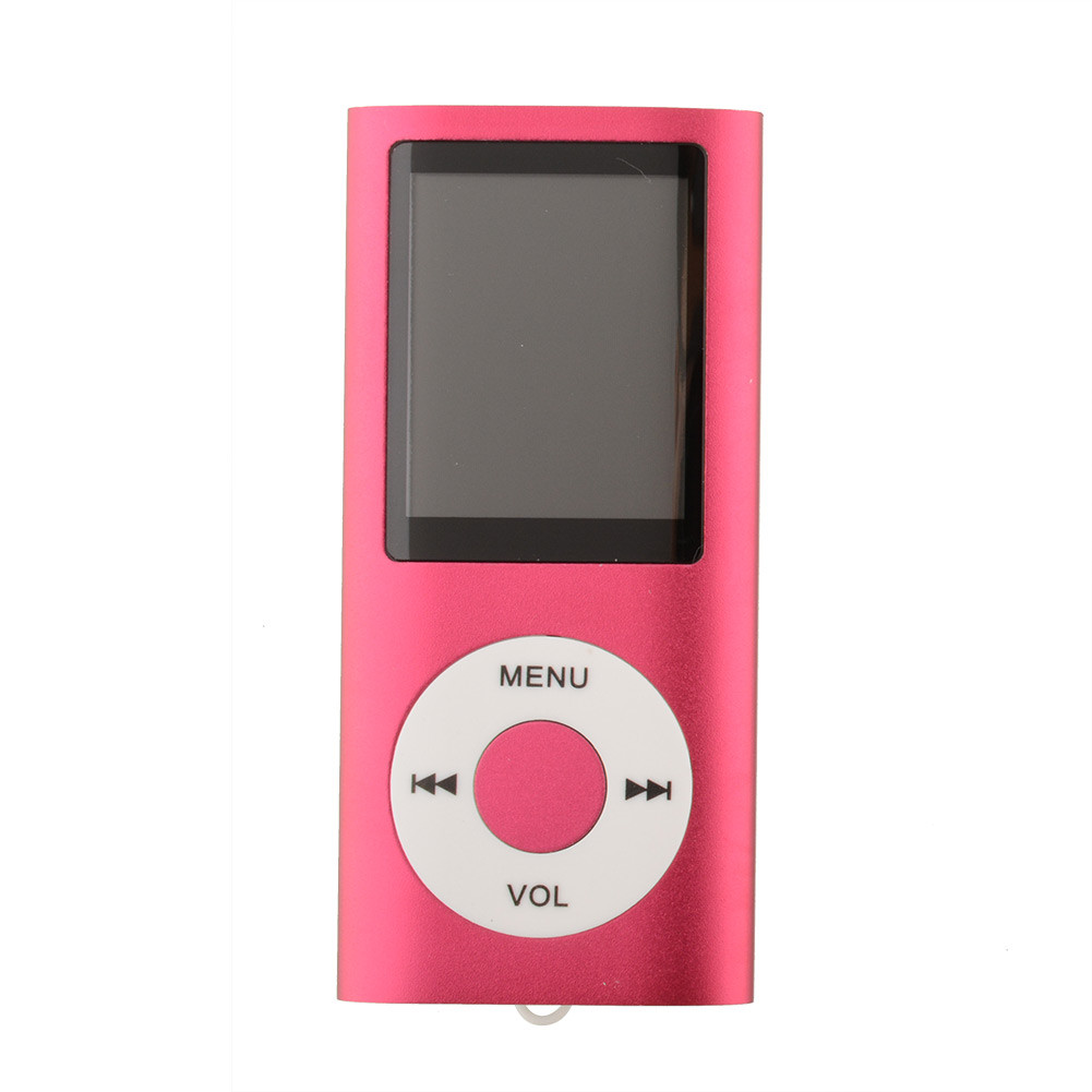 1.8 Inch Screen MP4 Video Radio Music Movie Player SD/TF Card MP4 Player  red_1.8 inches