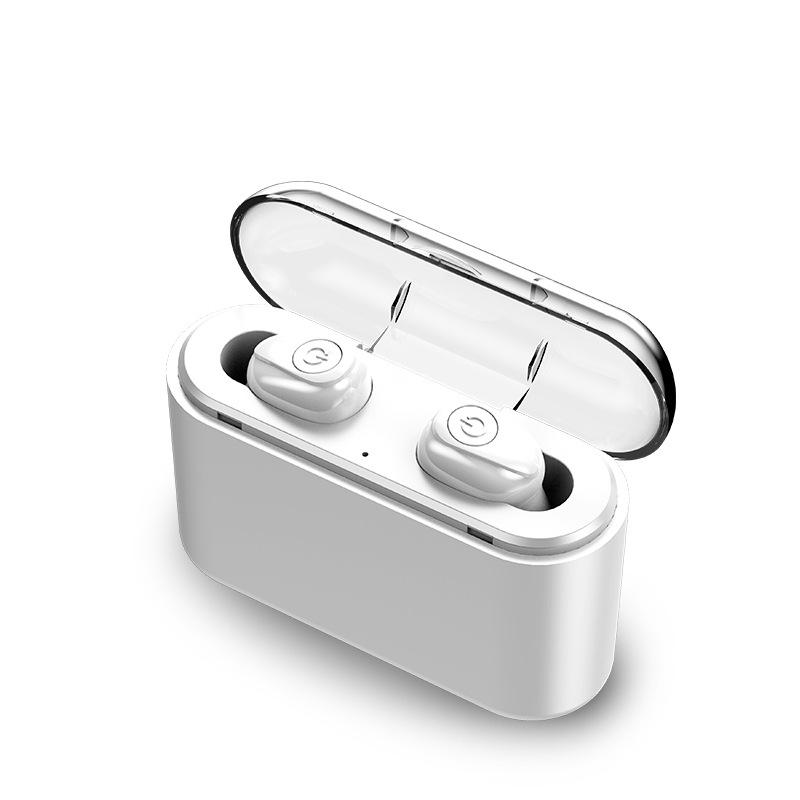 Bluetooth 5.0 IPX7 Waterproof Headset TWS Wireless Earphones Mini Earbuds Stereo Headphones  white