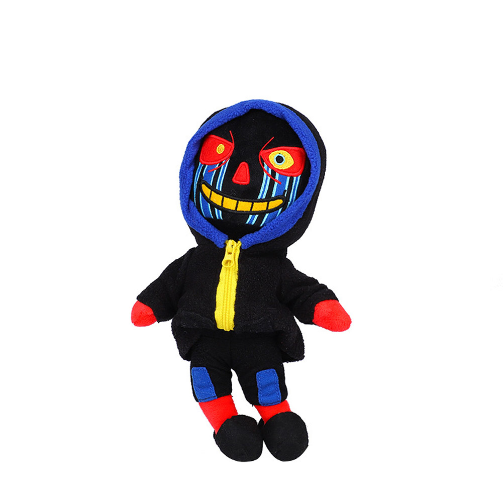 Plush Doll Toy Cute Plush Toy blue zombie Doll Toys Plush Doll Toy Gift for Birthday Children  Black zombie