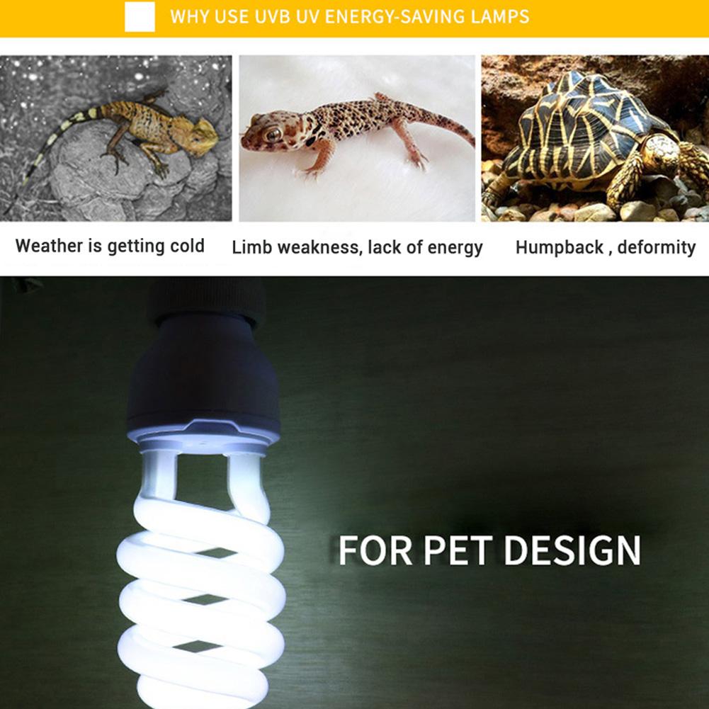 Energy Saving UVB Lamp Bulb for Reptile Tortoise Lizard Snake 220-240V white_UVB10.0 (power 13w)