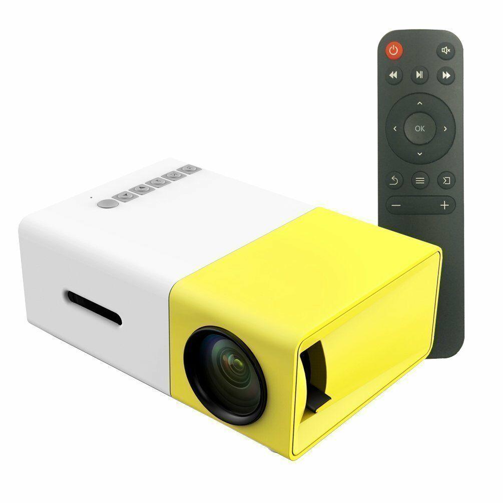 YG300 1080P Home Theater Cinema Usb Hdmi-compatible AV SD Mini Portable Hd Led Projector UK Plug