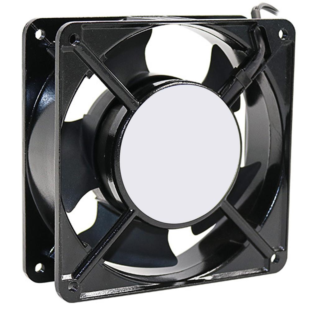 220V 120×38MM Low Noise Ozonizer Cooling Soldering Tin Exhaust Fan black