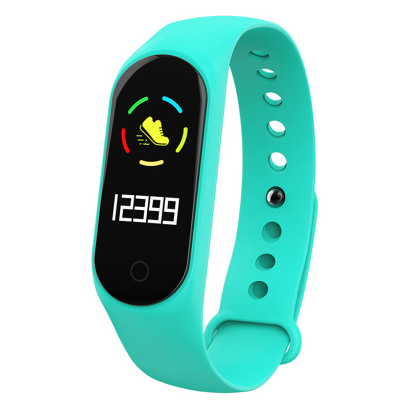 Smart Bracelet Color-screen IP67 Fitness Tracker Blood Pressure Heart Rate Monitor Smart Band for Android IOS Phone green