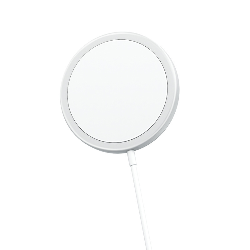 15W Magnet Wireless Charger for iPhone12 Mobile Phone Magnetic Charger white