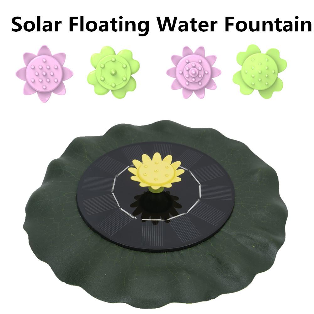Simulate  Lotus Leaf Solar Fountain For  Bird Bath  Pond Pool  Fish Bowl  Aquarium Garden Decor as shown