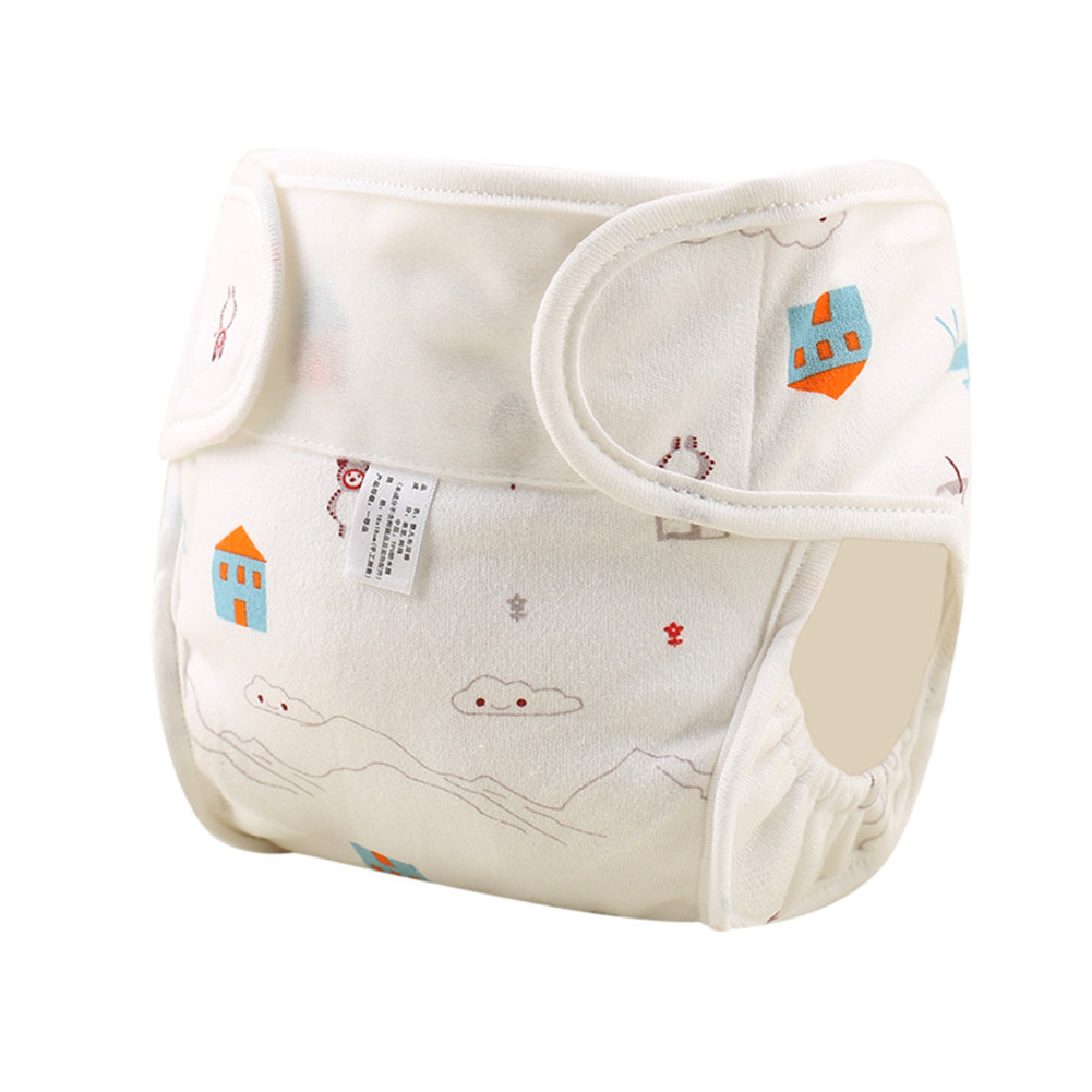 Baby Cute Patterns Diaper Pants Cloth Diaper Washable Leak-proof Diapers House bear_90#