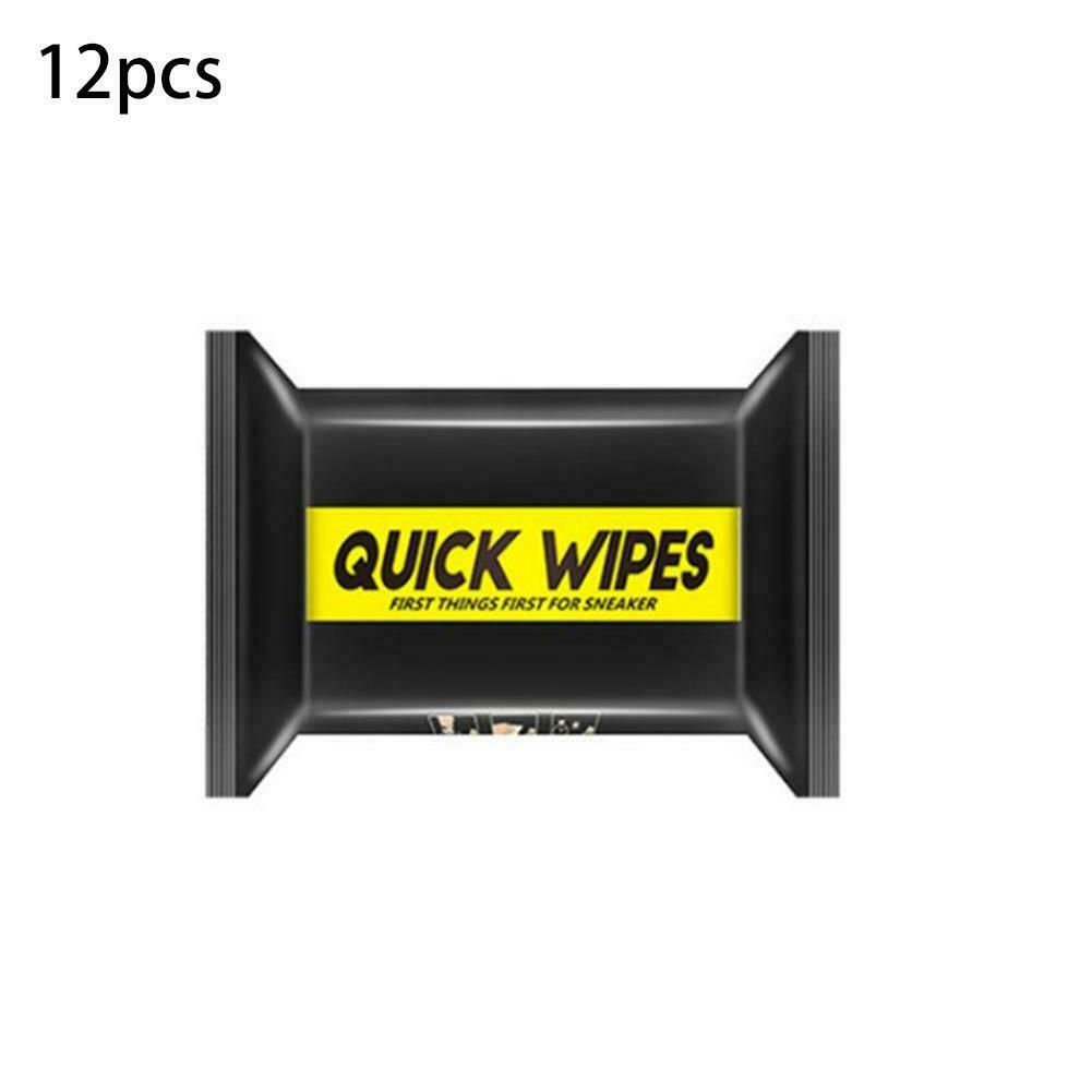 Disposable Shoe Wipes Set Travel Portable Sneakers Cleaning Wet Tissues Artifact Cleaning Paper 12 pieces