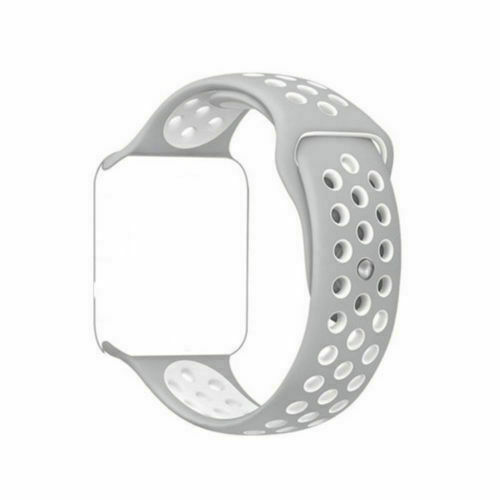 For Fitbit Blaze Watch Replaces Silicone Rubber Band Sport Watch Band Strap silver white