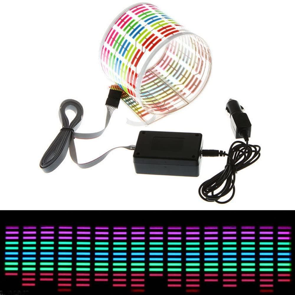 Sound Music Activate Sensor Car Auto Sticker Led Light Equalizer Glow Music Rhythm Light Color_45*11CM