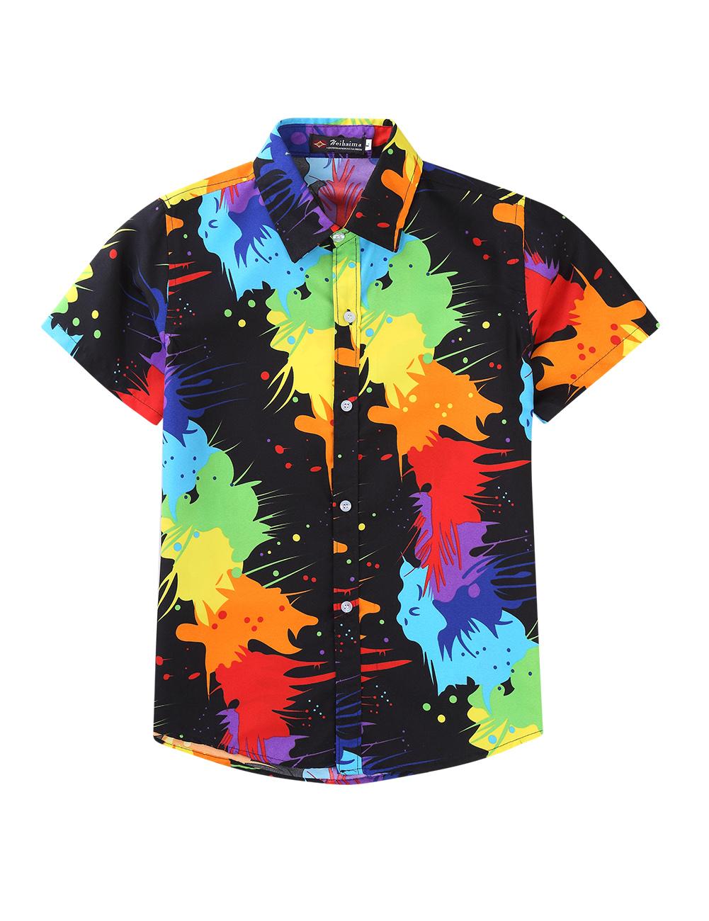 Men Women Cool Printing Beach Hawaii Couples Shirt 18#_XL