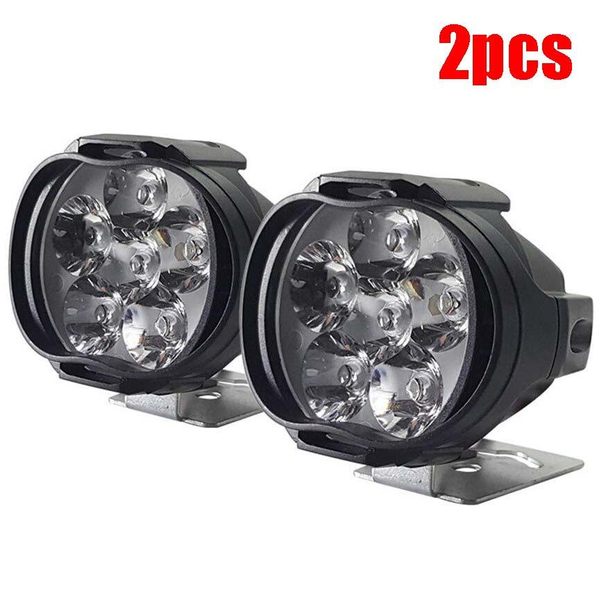 1 Pair Electric Bicycle 6leds Spotlight External Led Motorcycle Spotlight Car Auxiliary Headlight Fog Lamp 2pcs