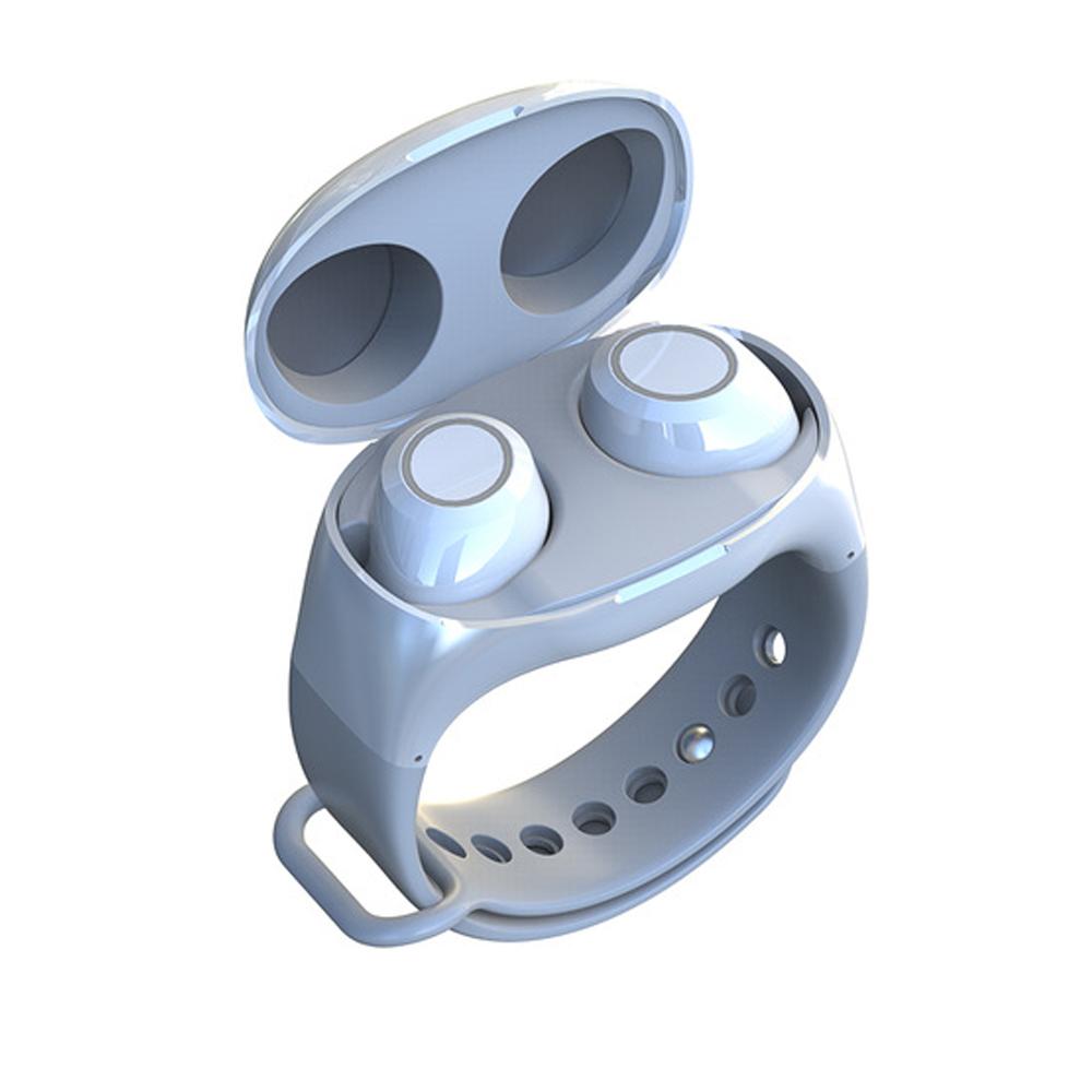 Wrist Type Lightweight Watch Design Charge Case BT 5.0 In-ear TWS Earbud HeadsetTWS Bluetooth 5.0 Headset Wireless Earphone white