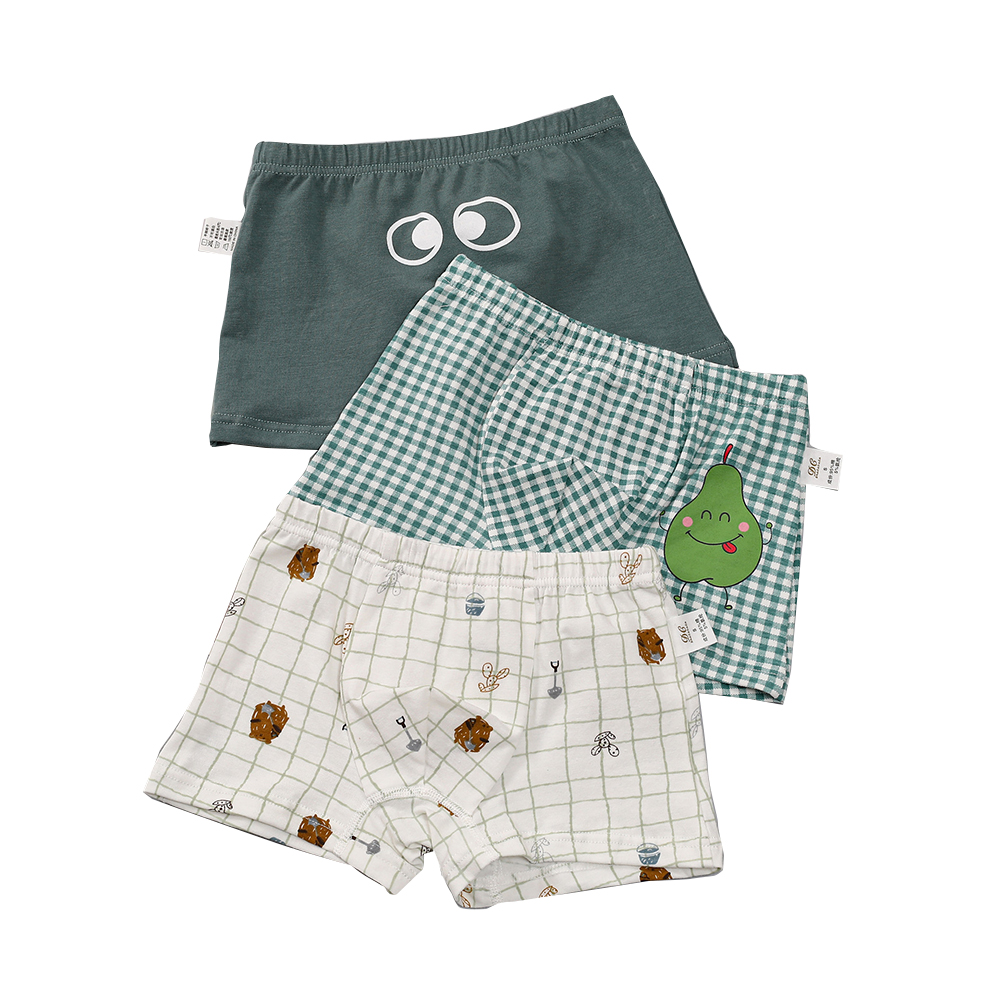 3 Pcs/set Boys Underpants Cotton Boxer Shorts for 3-14 Years Old Kids B604 _M