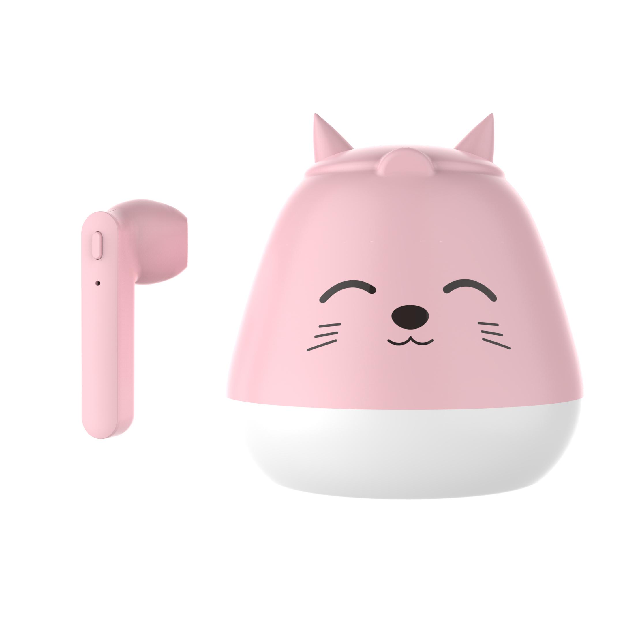 TWS Bluetooth 5.0 Headset Cute Cartoon Real Wireless Sports Headset  Kitty