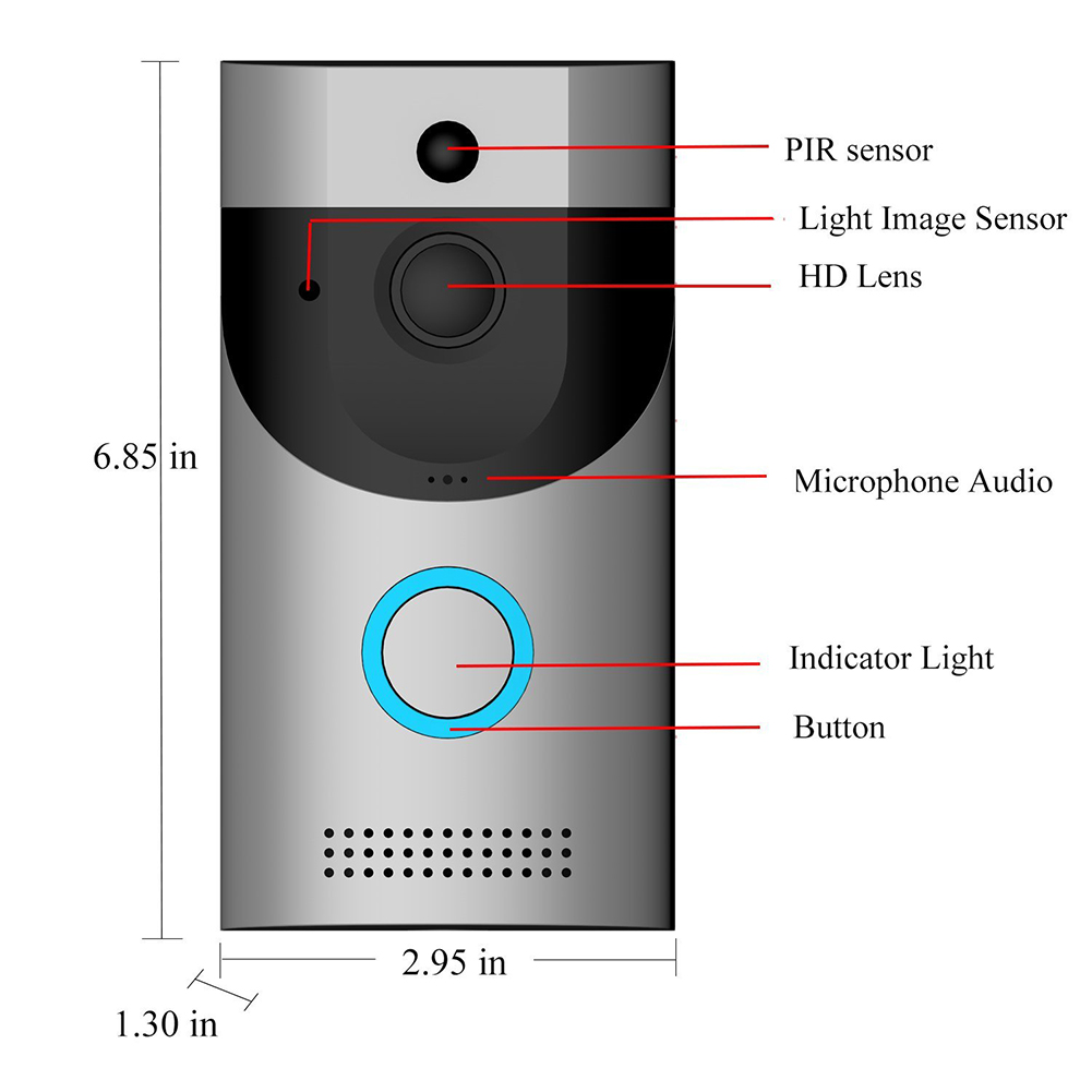 Smart WiFi Doorbell Ring Wireless Video Camer