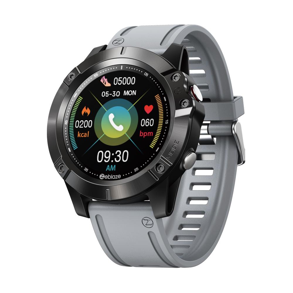 Original ZEBLAZE VIBE 6 Smart Watch Music Player Receive/Make Call Heart Rate 25 days Battery Life smartwatch sport watch gray