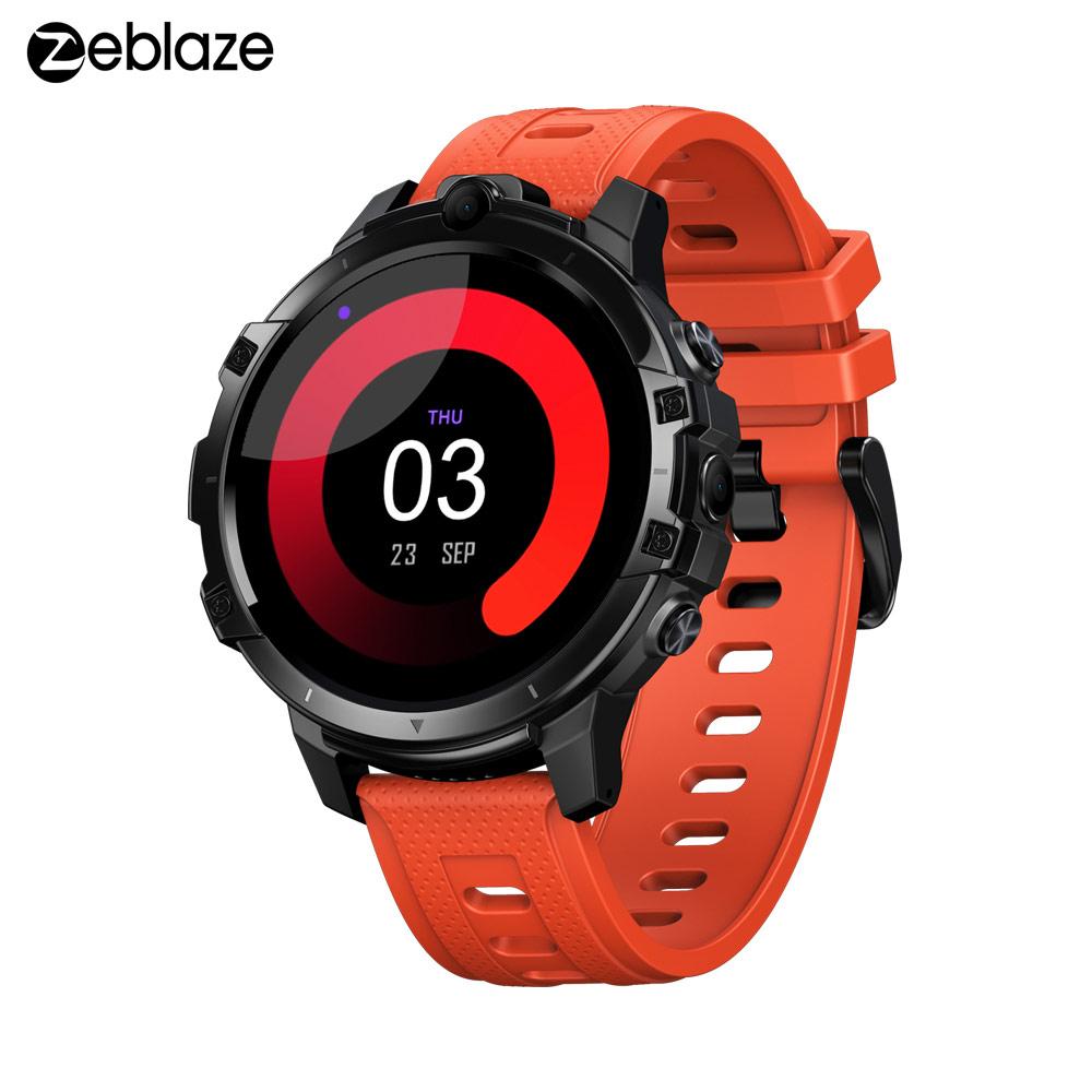 Original ZEBLAZE THOR 6 Octa Core 4GB+64GB Android10 OS 4G Global smart watch android smartwatch Orange