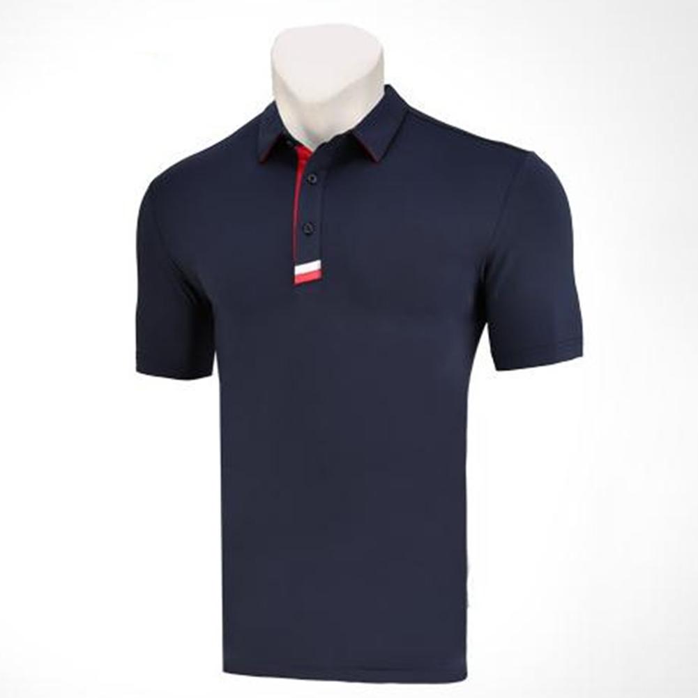 Golf Clothes Male Short Sleeve T-shirt Summer Golf Ball Uniform for Men Navy_M