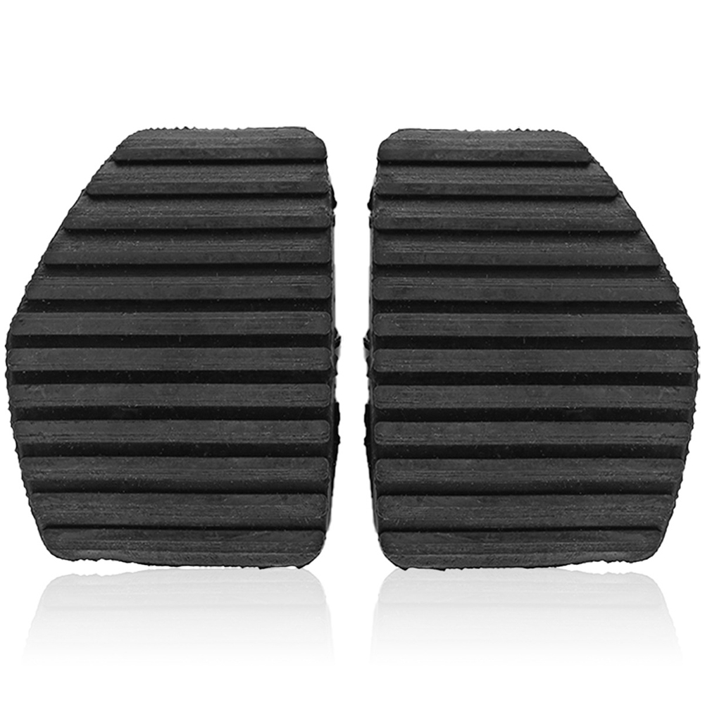 1 Pair Clutch Brake Pedal Rubber Cover For Peugeot/Citroen 1007 207 208 301 C3 C4 C5 C6 C OE: 450417 black