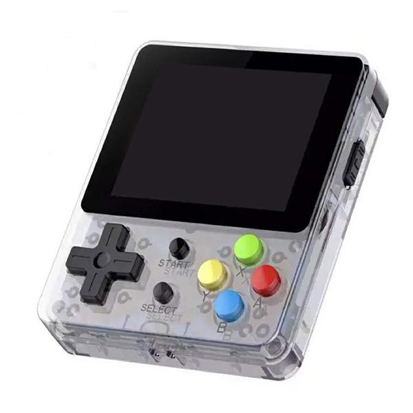 [EU Direct] LDK 2.6inch Screen Mini Handheld Game Console Nostalgic Children Retro Game Mini Family TV Video Consoles Transparent
