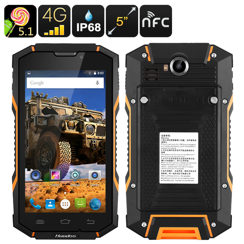Huadoo HG06 Rugged Smartphone (Orange)