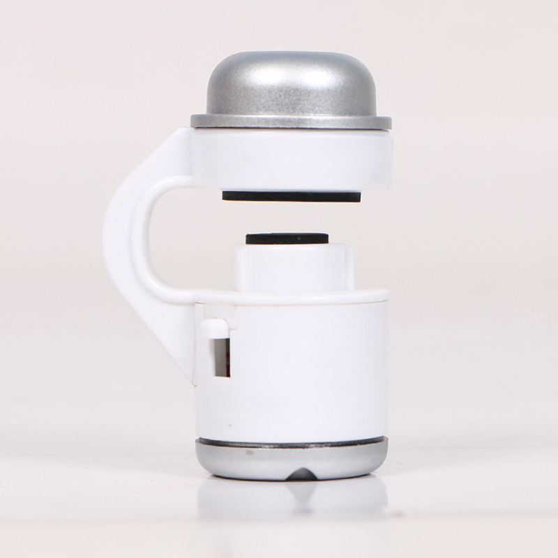 Universal  30x  Optical  Zoom  Mobile  Phone  Microscope Clip Led Light Micro Lens Telescope White