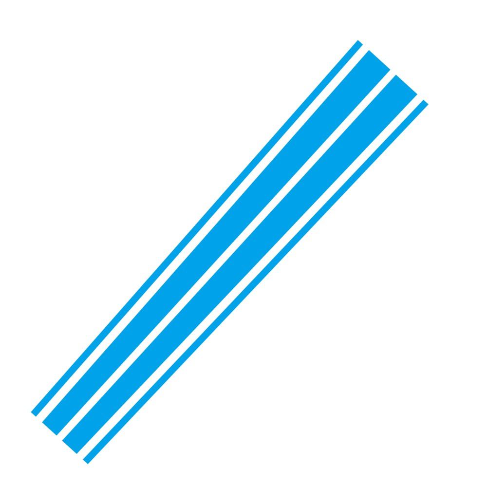 D-1040 Car Sticker Styling Auto Motorcycle Suv Hood Adhensive Tape Motor Cover Vinyl DIY Decoration Stripe Emblem Bandage Auto Accessories blue