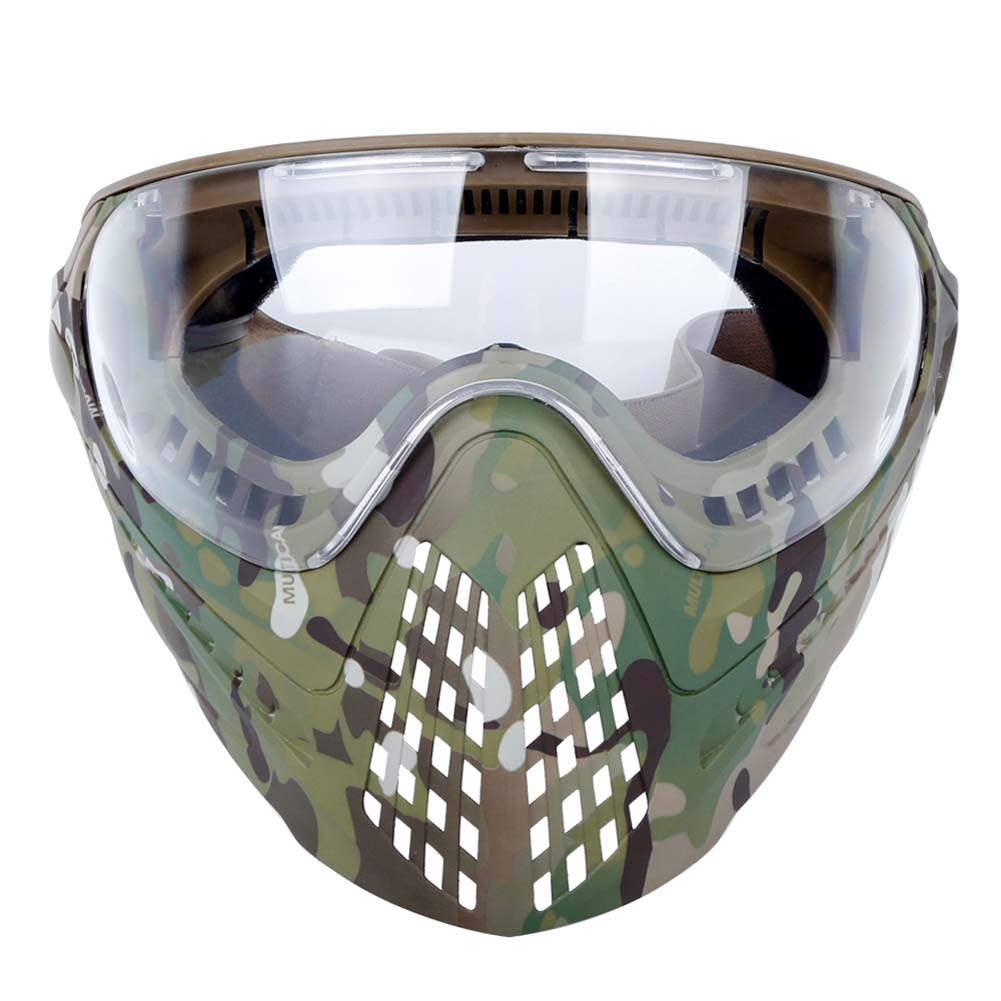Airsoft Paintball Masks With Glasses Hunt Full Face Mask Outdoor Sports Nylon Strikeball Masks CP camouflage