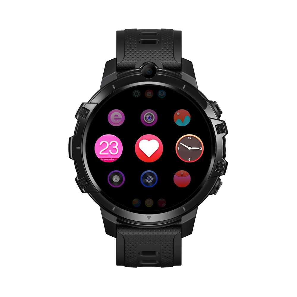 Original ZEBLAZE Smart  Watch 4g Card 64g8 Core Chip Dual Camera 1.6 Inch Gps Heart Rate Detection black