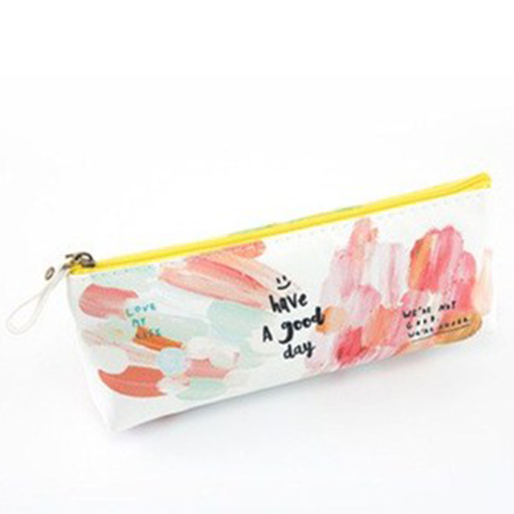 Big Capacity Simple Pencil Case Cute Pattern Stationery Pen Bags Pouch Office School Supply