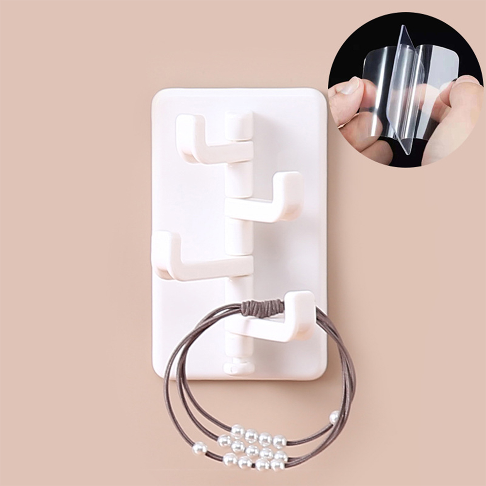 ABS Creative Wall Hanging Nail-free Door Hook Bathroom Kitchen Hanger White