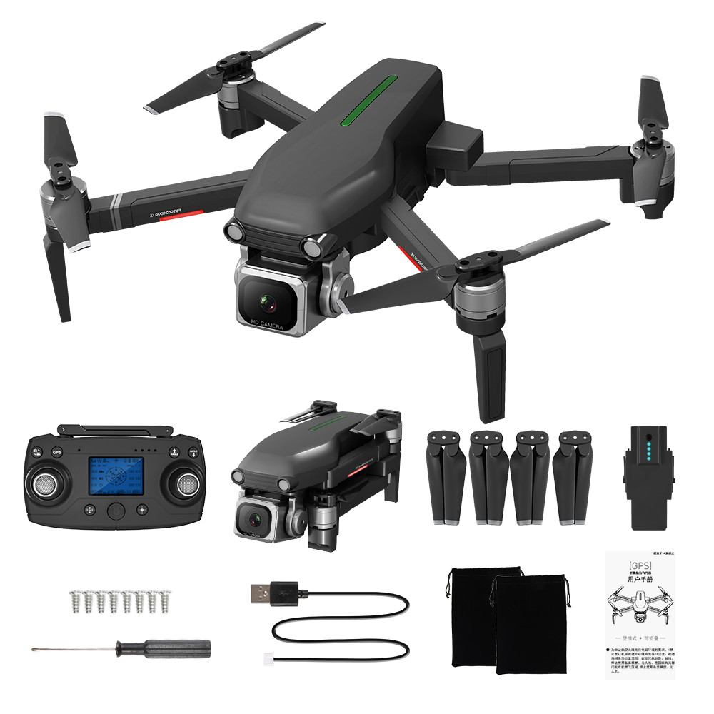 GPS RC Drone X1-S PRO Quadcopter 5G WiFi FPV 4K HD ESC Camera Brushless Helicopter 25mins Flight Time VS F11 SG906 1 battery